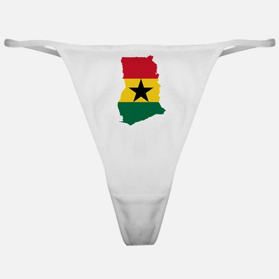 Ghana Flag and Map Classic Thong