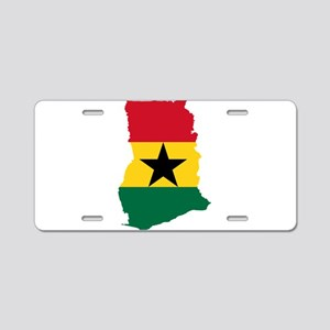 Ghana Flag and Map Aluminum License Plate