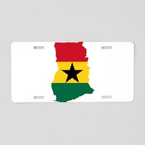 Ghana Flag and Map Aluminum License Plate