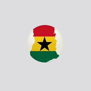 Ghana Flag and Map Mini Button