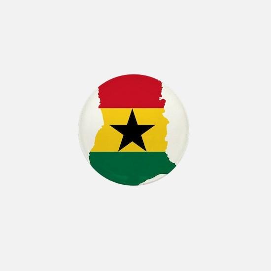 Ghana Flag and Map Mini Button