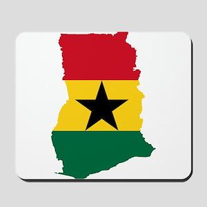 Ghana Flag and Map Mousepad
