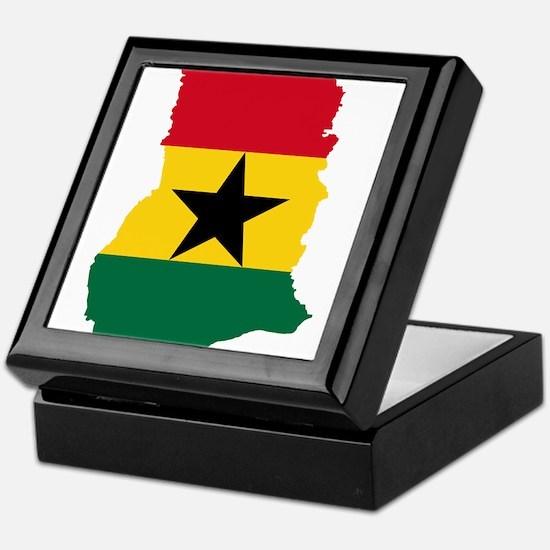 Ghana Flag and Map Keepsake Box