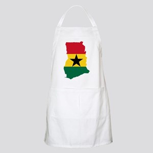 Ghana Flag and Map Apron