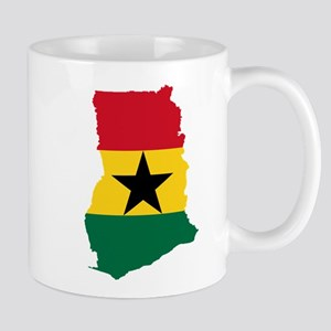 Ghana Flag and Map Mug
