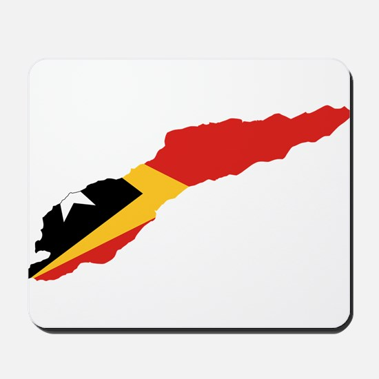 Great Timor Flag and Map Mousepad