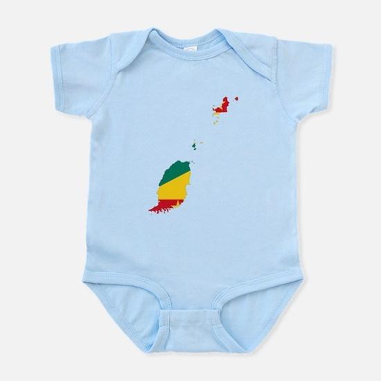 Grenada Flag and Map Infant Bodysuit