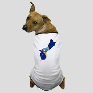 Guam Flag and Map Dog T-Shirt