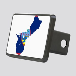 Guam Flag and Map Rectangular Hitch Cover