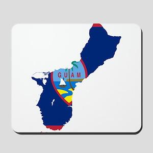 Guam Flag and Map Mousepad