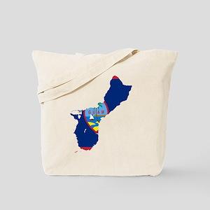Guam Flag and Map Tote Bag