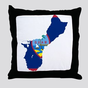 Guam Flag and Map Throw Pillow
