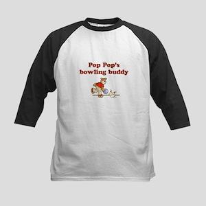 Pop Pop's Bowling Buddy Kids Baseball Jersey