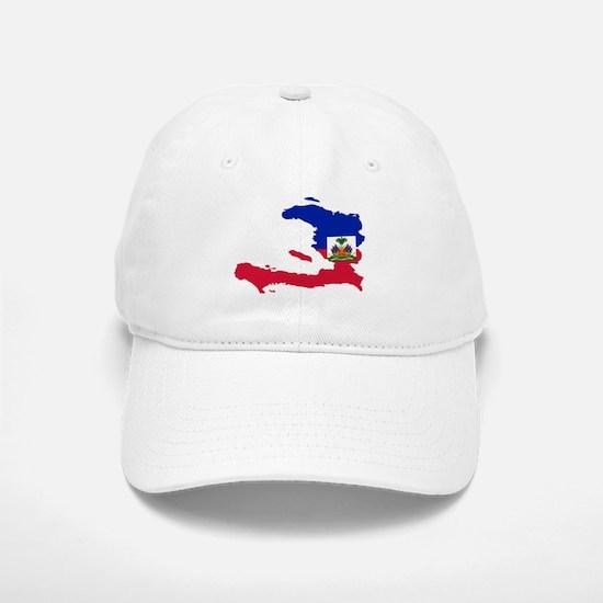 Haiti Flag and Map Baseball Baseball Cap