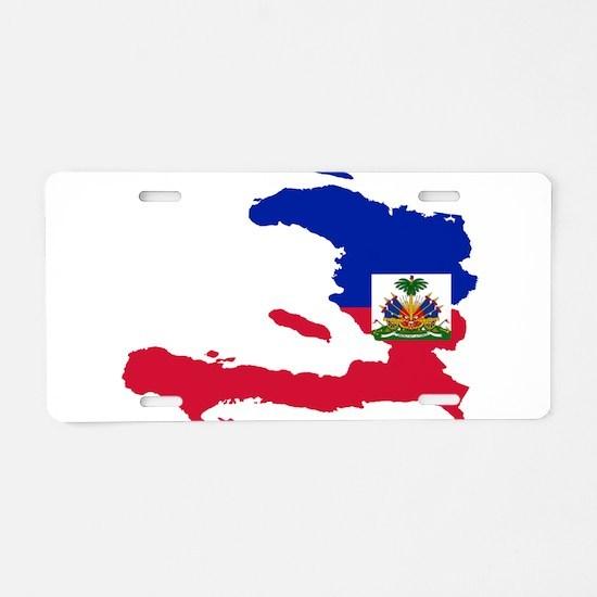 Haiti Flag and Map Aluminum License Plate
