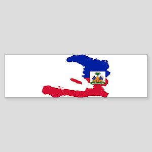 Haiti Flag and Map Sticker (Bumper)