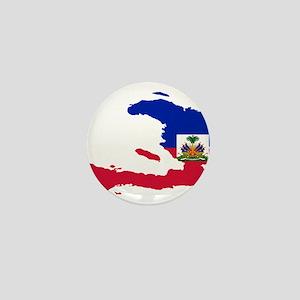 Haiti Flag and Map Mini Button