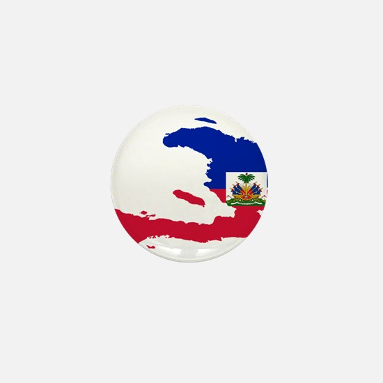 Haiti Flag and Map Mini Button