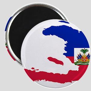 Haiti Flag and Map Magnet