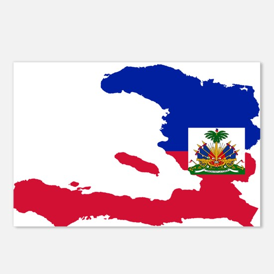 Haiti Flag and Map Postcards (Package of 8)