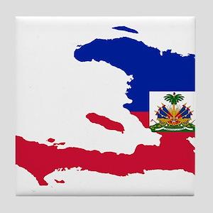 Haiti Flag and Map Tile Coaster