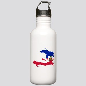 Haiti Flag and Map Stainless Water Bottle 1.0L
