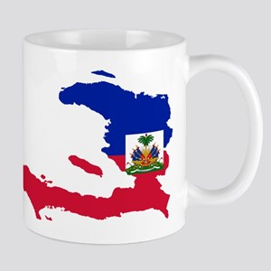 Haiti Flag and Map Mug