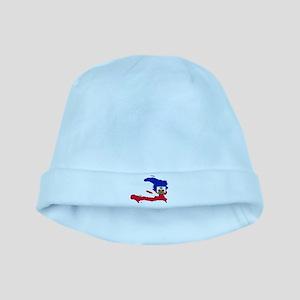 Haiti Flag and Map baby hat