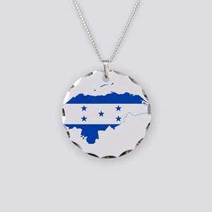 Honduras Flag and Map Necklace Circle Charm