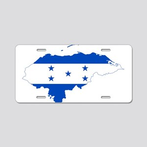 Honduras Flag and Map Aluminum License Plate