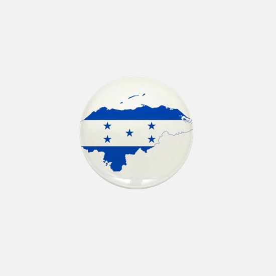 Honduras Flag and Map Mini Button