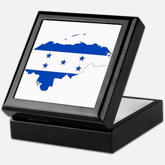 Honduras Flag and Map Keepsake Box