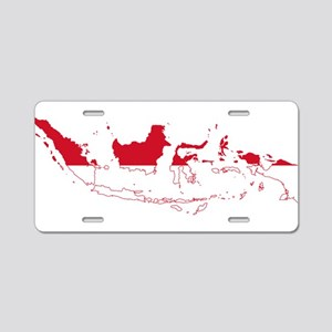 Indonesia Flag and Map Aluminum License Plate