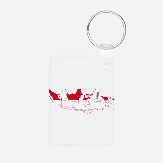 Indonesia Flag and Map Keychains