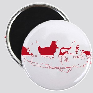 Indonesia Flag and Map Magnet