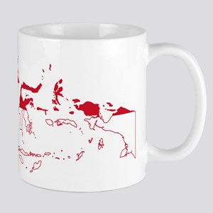 Indonesia Flag and Map Mug