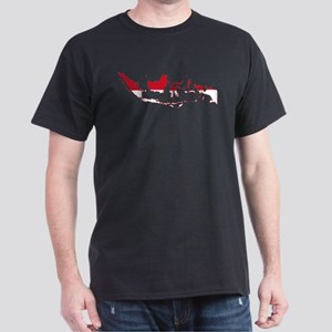 Indonesia Flag and Map Dark T-Shirt