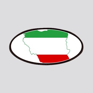 Iran Tricolor Flag and Map Patches