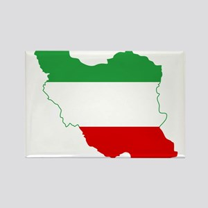 Iran Tricolor Flag and Map Rectangle Magnet