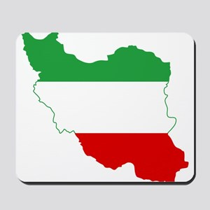 Iran Tricolor Flag and Map Mousepad