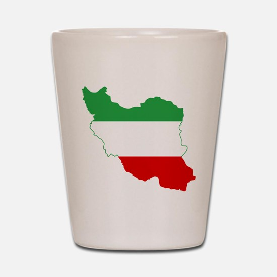 Iran Tricolor Flag and Map Shot Glass