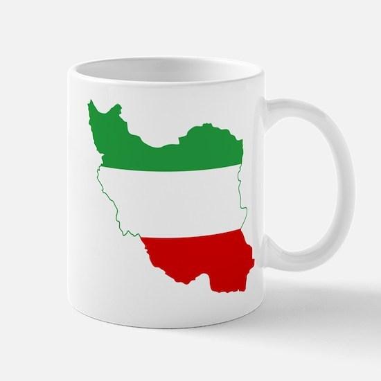 Iran Tricolor Flag and Map Mug