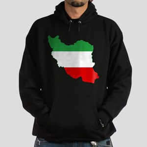 Iran Tricolor Flag and Map Hoodie (dark)