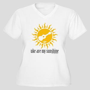 uke are my sunshine Women's Plus Size V-Neck T-Shi