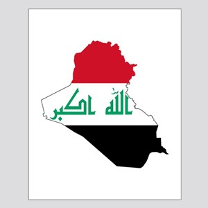 Iraq Flag and Map Small Poster