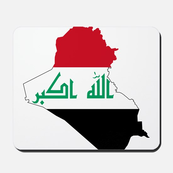 Iraq Flag and Map Mousepad