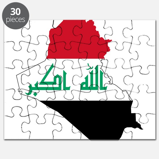 Iraq Flag and Map Puzzle