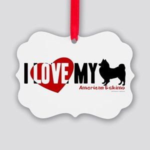 American Eskimo Picture Ornament