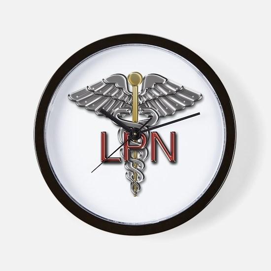 LPN Medical Symbol Wall Clock