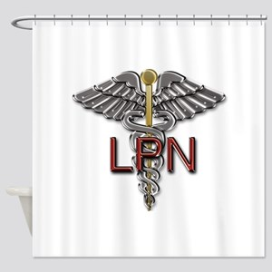 LPN Medical Symbol Shower Curtain